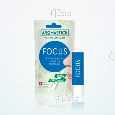 AromaStick FOCUS padedantis susikoncentruoti uostukas - nosies inhaliatorius, 0,8 ml