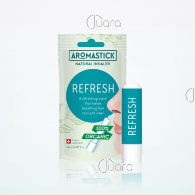 AromaStick REFRESH atgaivos suteikiantis uostukas - nosies inhaliatorius, 0,8 ml