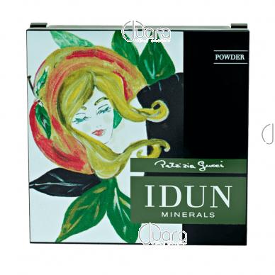 IDUN Minerals kompaktinė pudra skaidri Tuva Nr. 1521, 3,5 g 5