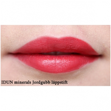 IDUN Minerals matiniai lūpų dažai Jordgubb Nr. 6107, 4 g 3