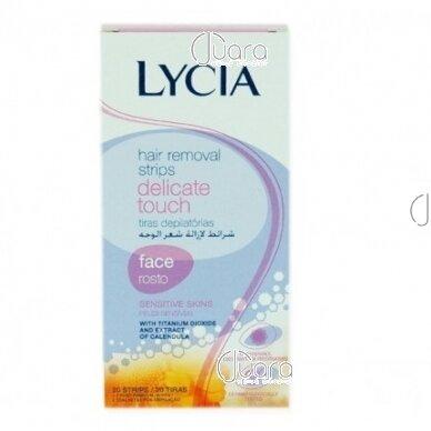 Lycia Delicate Touch depiliacinės vaško juostelės veidui (jautriai odai), 20vnt