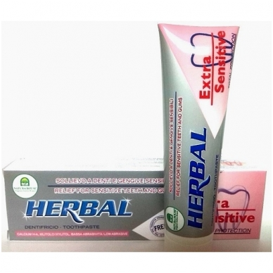 """Natura House dantų pasta ypač jautriems dantims """"Herbal"""", 100ml"""