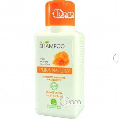 Natura House maitinamasis šampūnas sausiems pažeistiems plaukams, 250ml