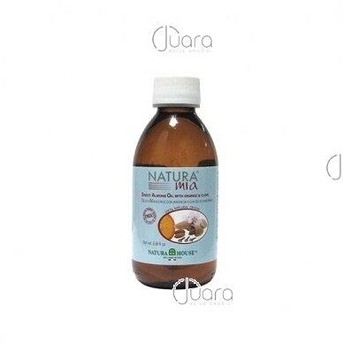 Natura House migdolų aliejus su apelsinų ekstraktu, 200ml