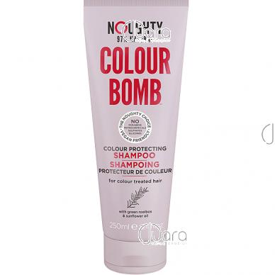 Noughty dažytų plaukų spalvą apsaugantis šampūnas su saulėgrąžų aliejumi ir žaliojo  siauralapio raibsteglio ekstraktais, 250ml