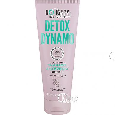 Noughty detoksikuojamasis šampūnas ir kondicionierius viename visų tipų plaukams su pipirmėčių ir rūgštynių lapų ekstraktais, 250 ml