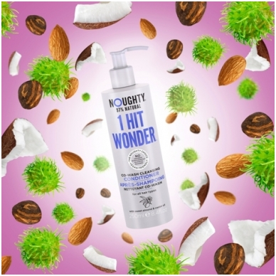 Noughty plaunamasis/valomasis kondicionierius-šampūnas visų tipų plaukams su saldžiųjų migdolų ir ricinos aliejumi, 250ml 2